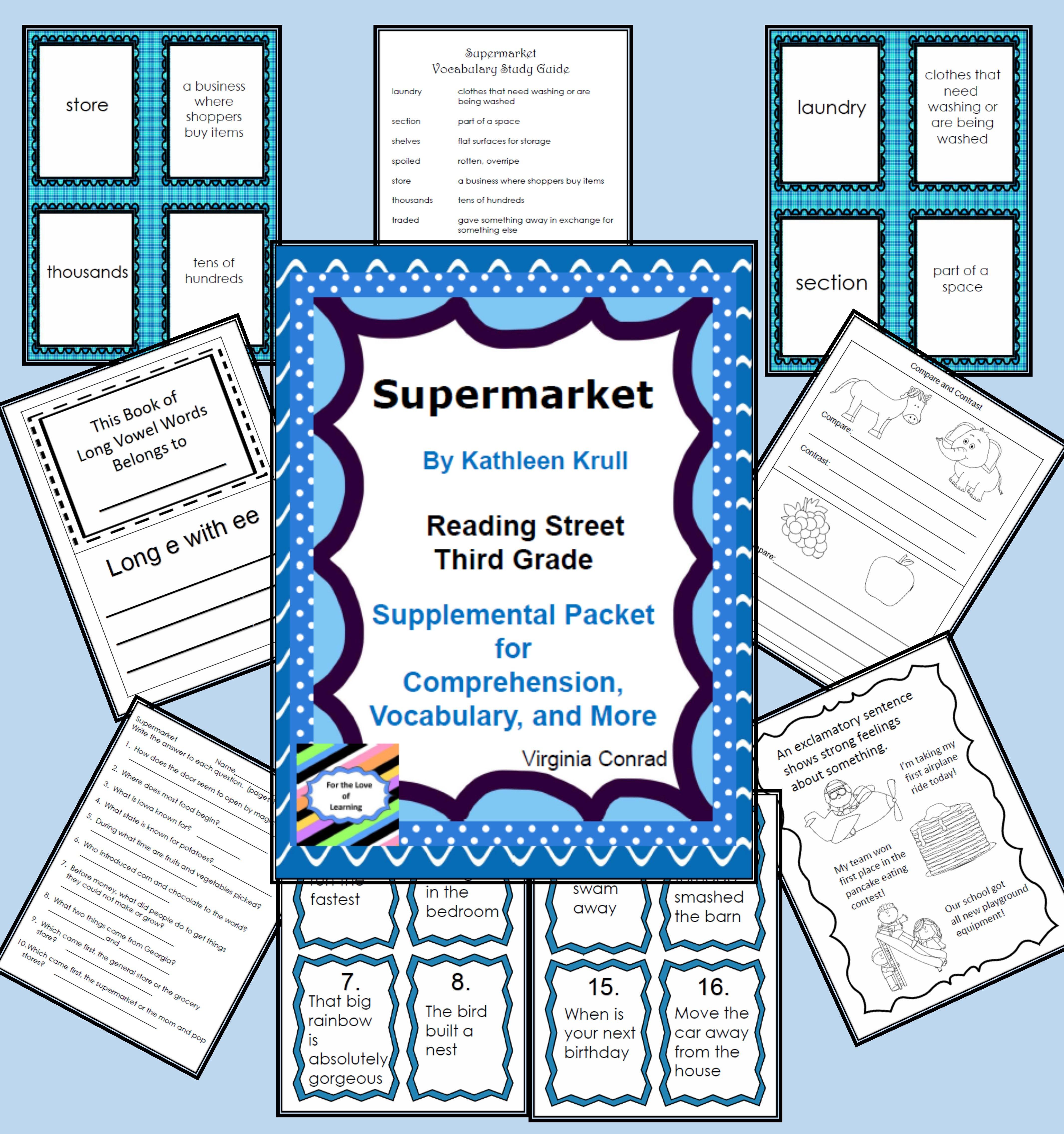 Supermarket Reading Street Supplemental Packet