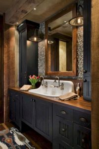 88 Modern Rustic Farmhouse Style Master Bathroom Ideas ...