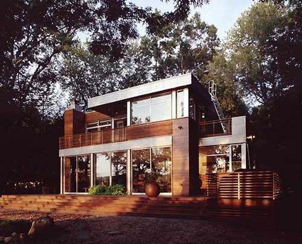 Modern Lake House Decorating Ideas Wooden Floors Plan Design