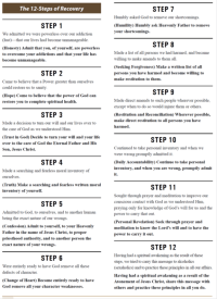 """12 steps of recovery 