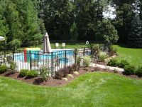 Landscaping around pool. All Natural Landscapes ...
