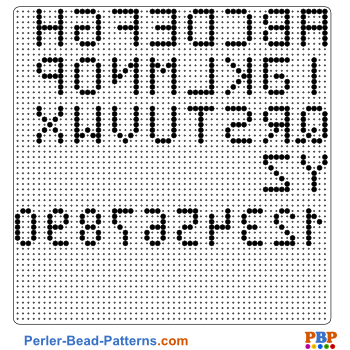 Alphabet perler bead pattern. Download a great collection