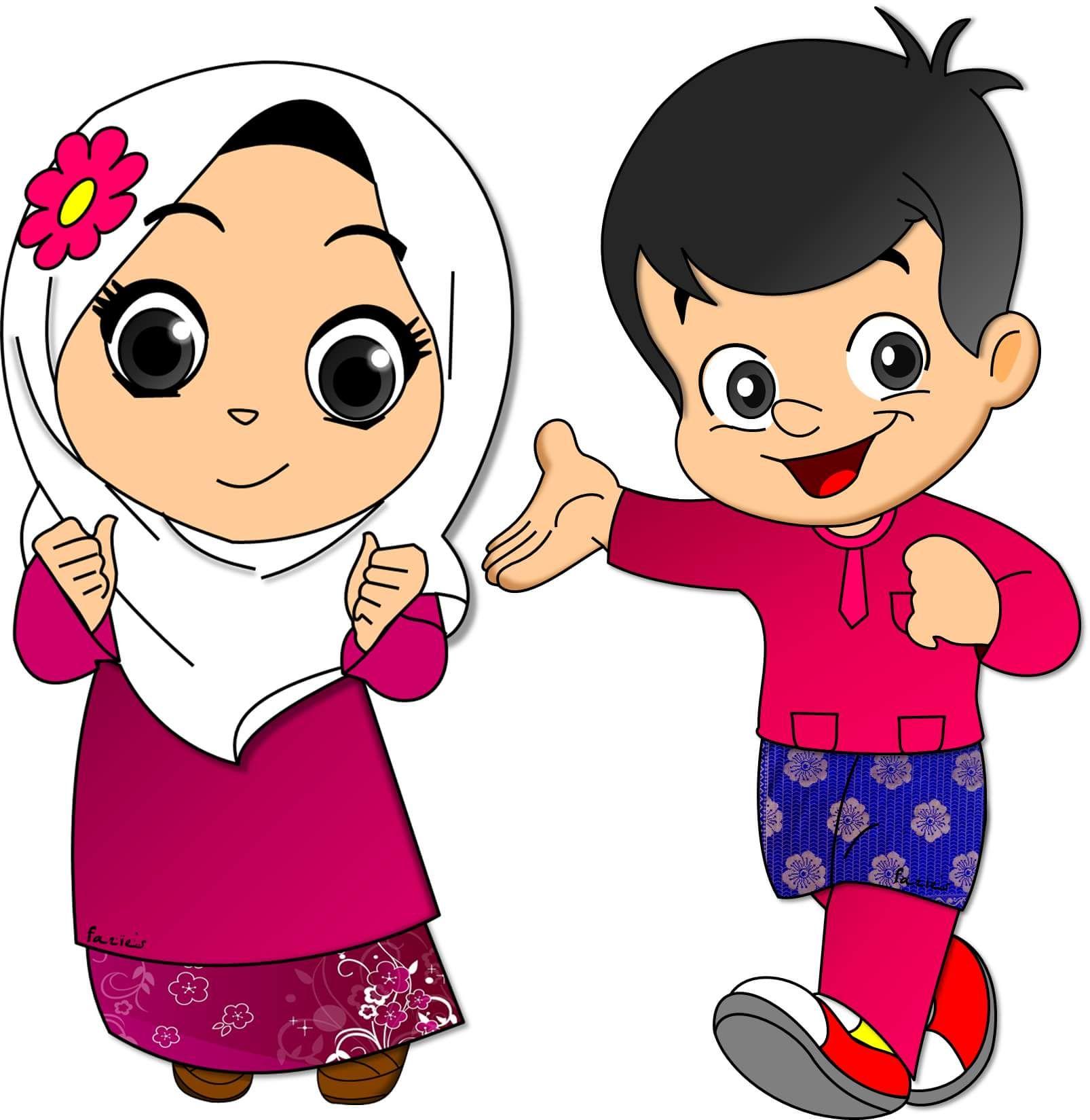 Koleksi Gambar Gambar Animasi Kartun Anak Islami Terbaru