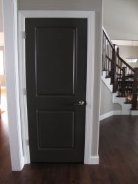 The ideas for painting interior doors black above is used ...