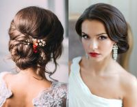Wedding Hair Curly Bun, Wedding Hair Low Curly Bun ...