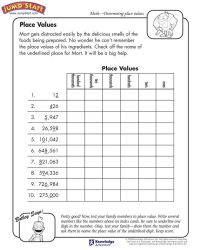 """Place Values""  3rd Grade Math Worksheets for Kids on ..."