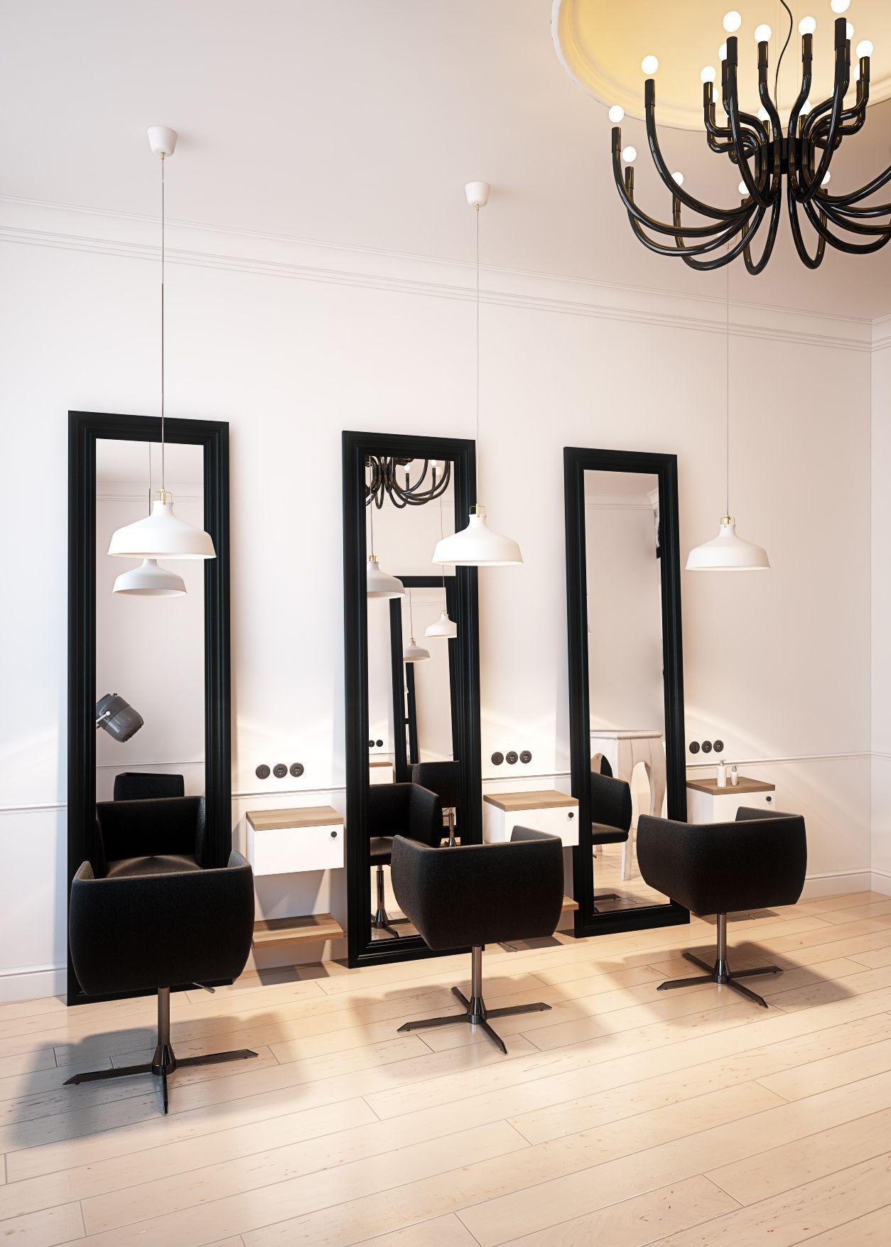 Hairdresser interior design in Bytom POLAND  archi group Salon fryzjerski w Bytomiu