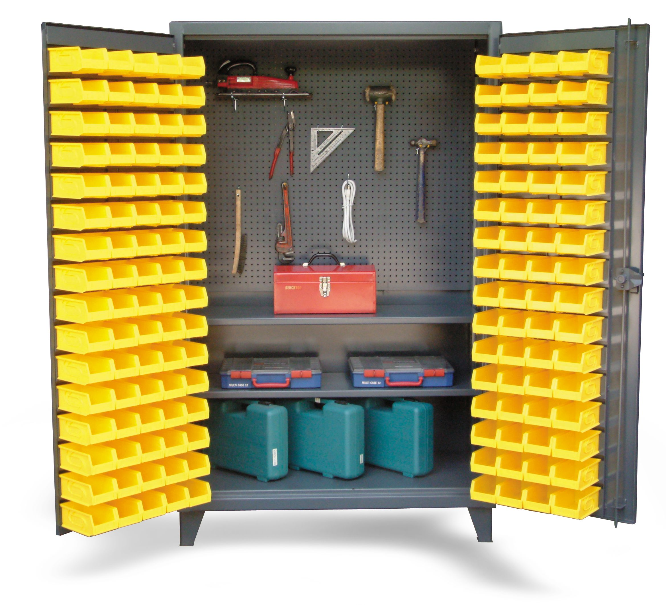 Upright Tool Storage Bin Cabinet