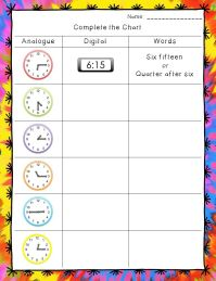 Time Worksheets: Hour, Half Hour, and Quarter Hour ...