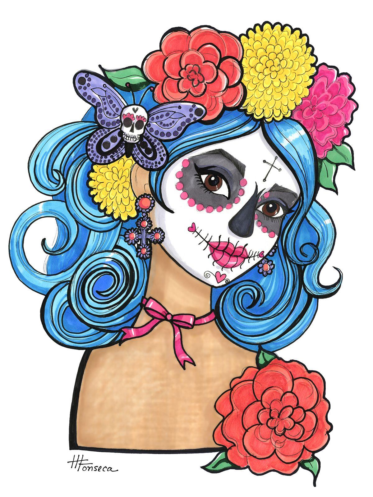 Sugar Skull Girls For Dia De Los Muertos On Behance