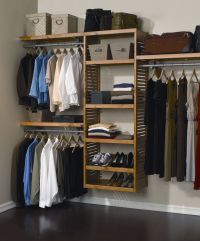 Closet & Storage : Simple Wall Mounted Wooden Shelving