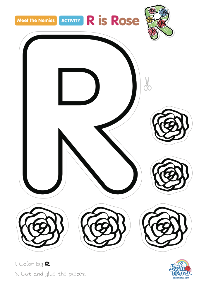 'R is Rose' craft! A whole craft series to go with our