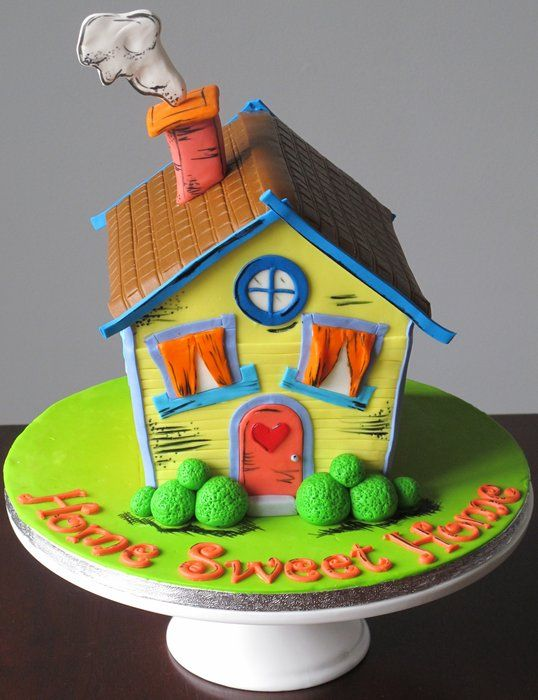 A Colourful House Warming Cake For New Home Owners Cake