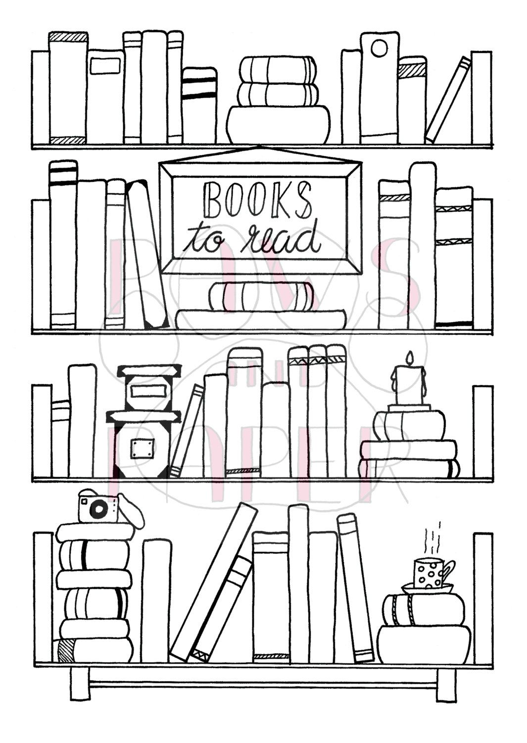 Bullet Journal Book Wishlist Printable Hand Drawn