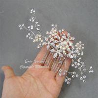 Wedding Hair Accessories,Large Bridal Hair Combs. Pearl