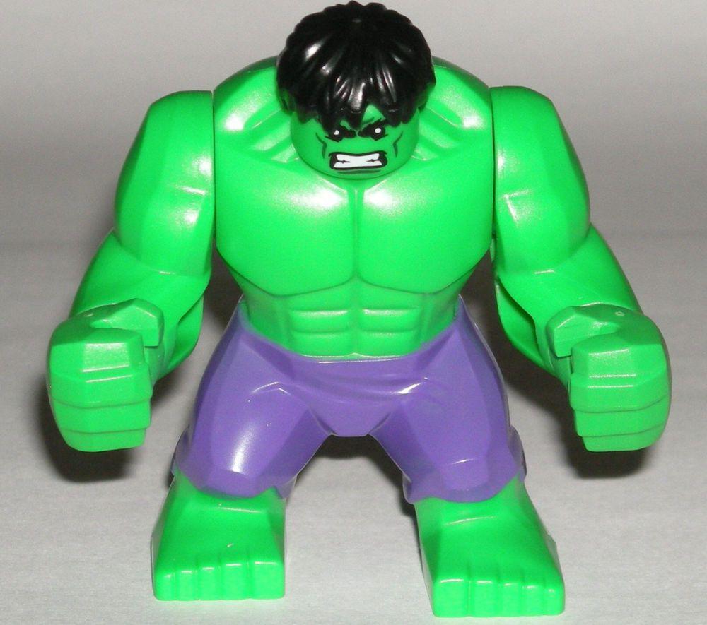Lego The Incredible Hulk Minifigure Super Hero Dark Purple