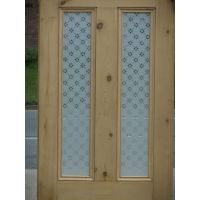 Victorian 4 Panel Etched Glass Door with Fleur Glass ...