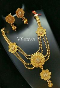 Indian Jewellery antique designer floral necklace earrings