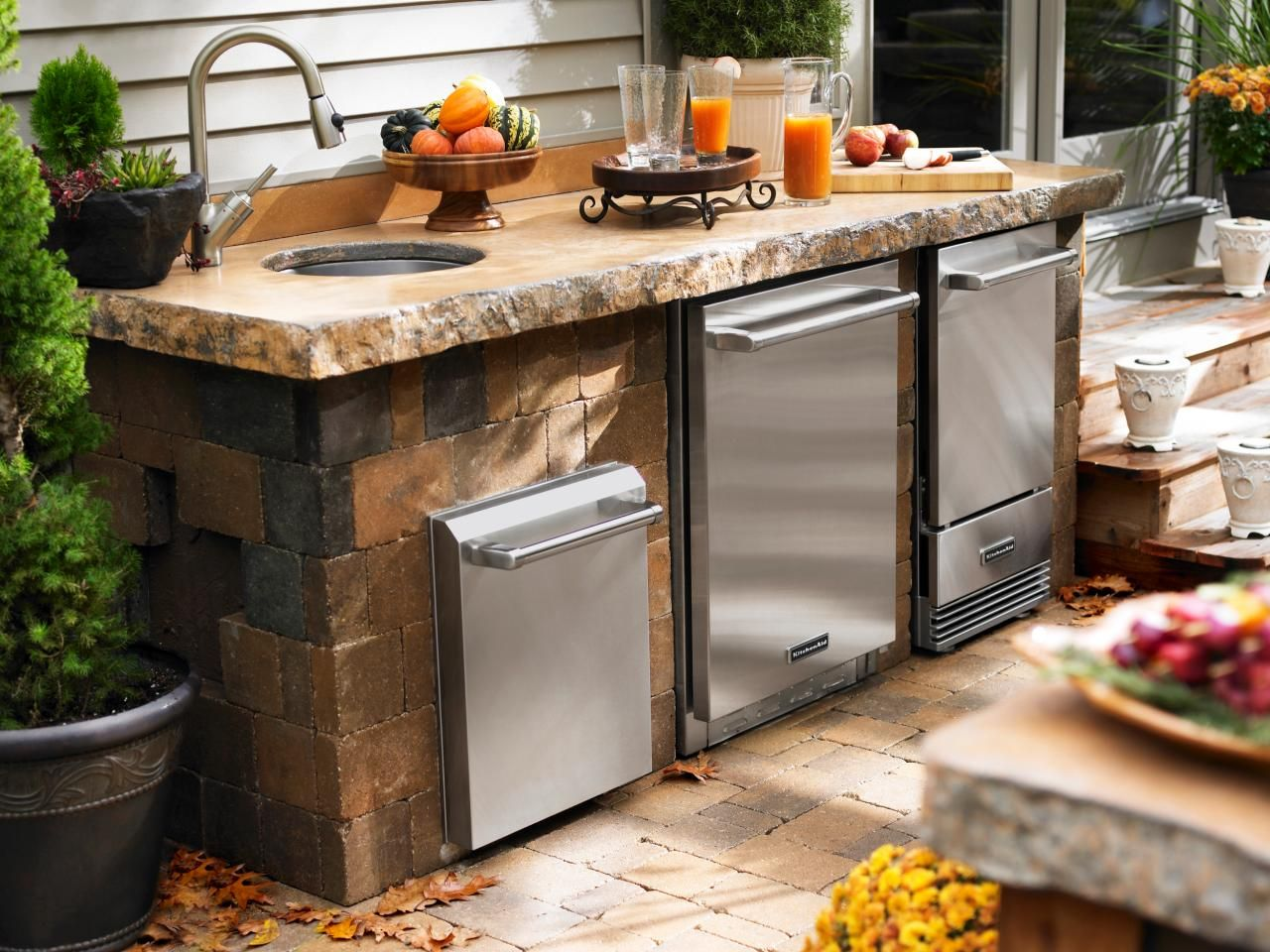 outdoor kitchen ideas on a budget elkay faucets pictures tips and