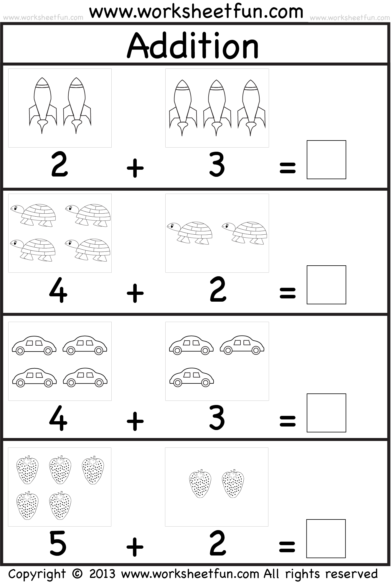 Addition Worksheet This Site Has Great Free Worksheets