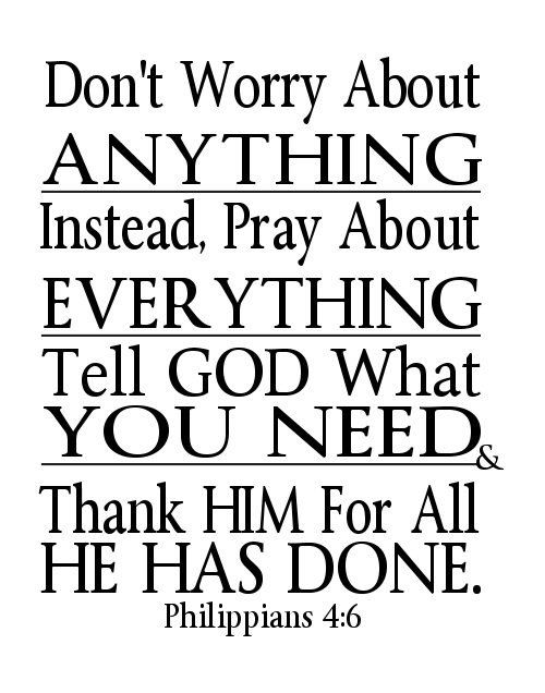 Digital File Word Art Dont Worry Pray Philippians 4 6