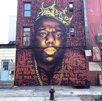 Street Art Graffiti Hip Hop Character Men on Graffiti Wall ...