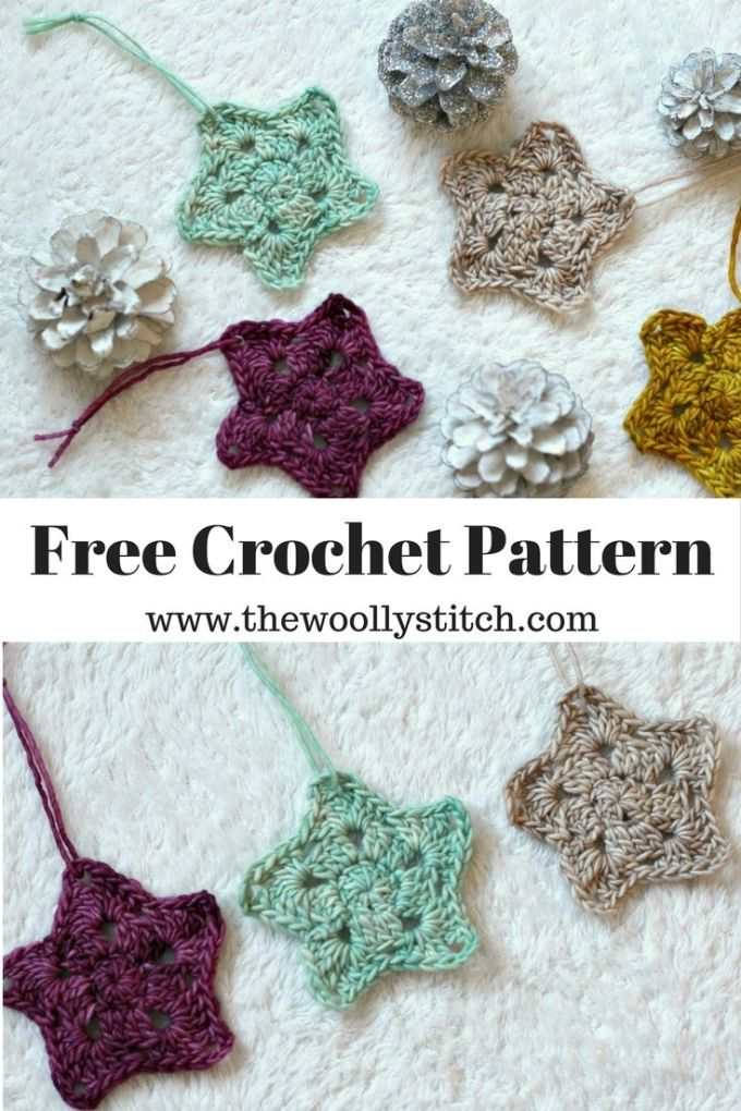 Free Crochet Christmas Stars Christmaswalls