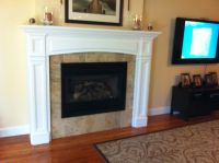 Gas Fireplace Insert Tile Face of Fireplace No Hearth ...