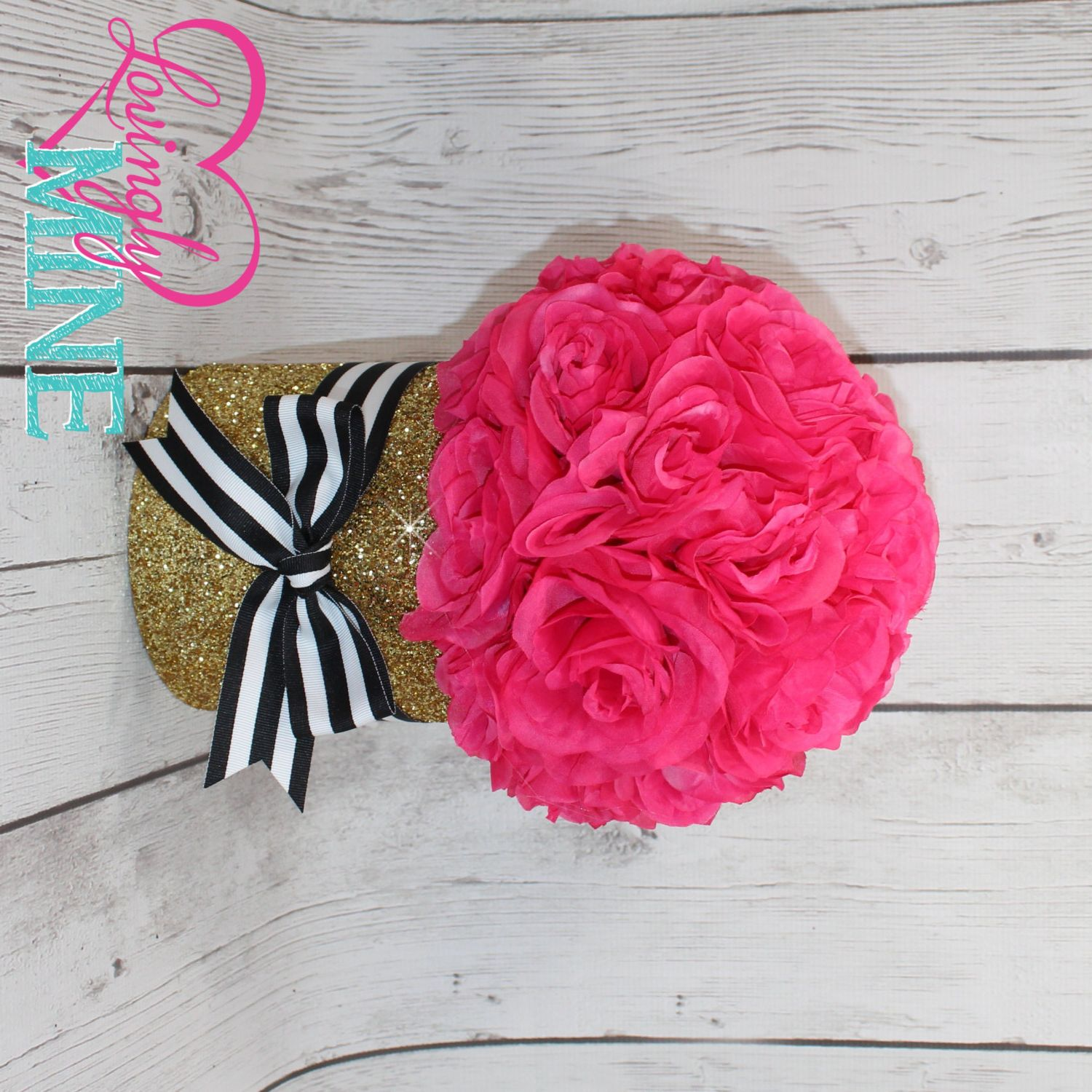 Black Centerpieces Party And Pink
