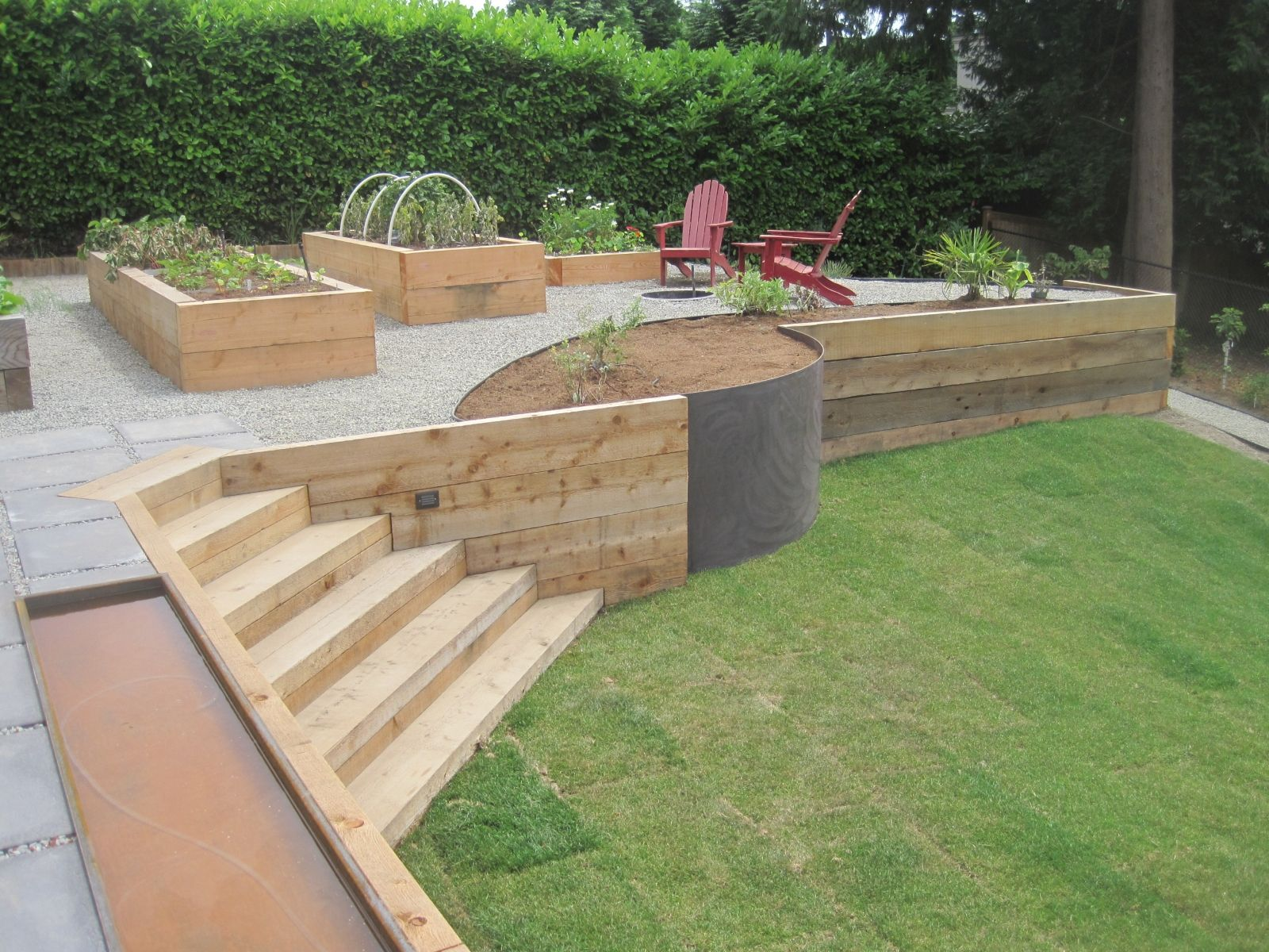 25 Best Ideas About Wood Retaining Wall On Pinterest Retaining