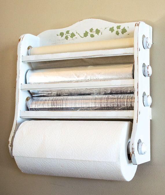 Shabby Chic Kitchen Dispenser  Wax Paper Foil Plastic