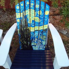 Hand Painted Wooden Chairs Posture Chair Kneeling Adirondack Vincent Wouldn 39t Like This