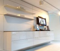 b3 wall-hung unit in high gloss white lacquer finish ...