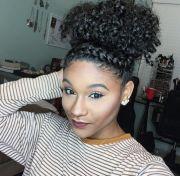top bun twist natural hair