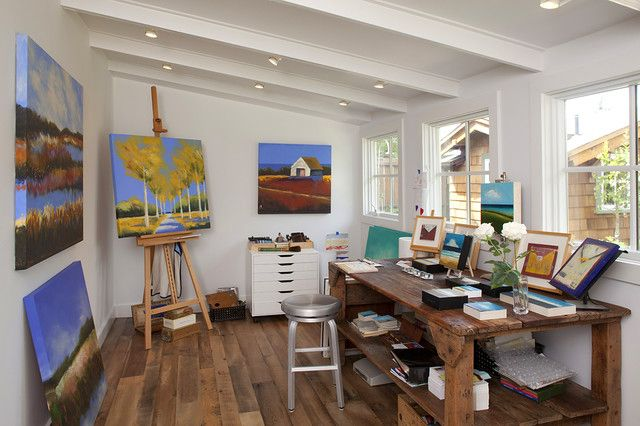 Art Studio Design Ideas For Small Spaces Modern Little Art And