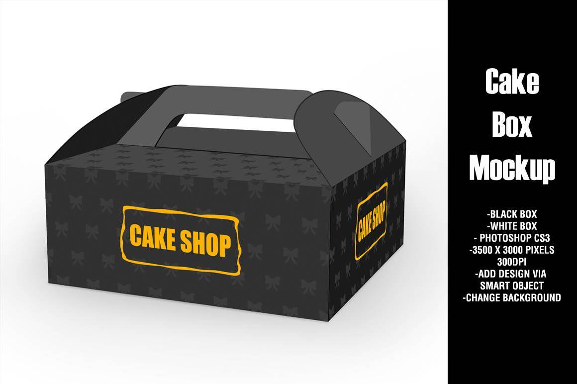 Bakery cake box mockup psd | 274 mb creativemarket edible cake topper mockup set 4327451. Cake Box Mockup Psd Free Download Mockup