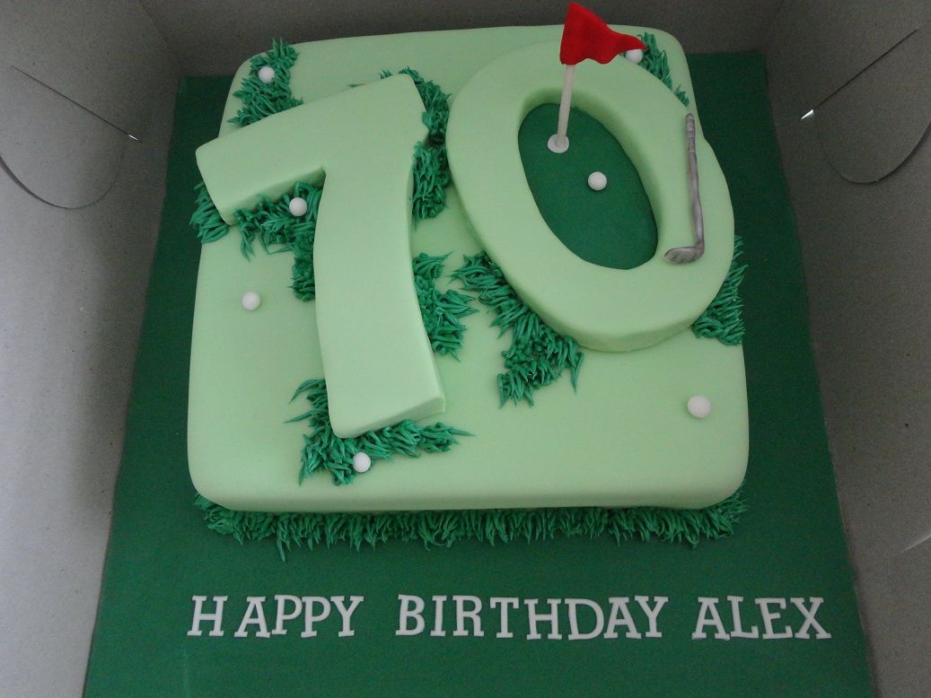 70th Birthday Cake Golf
