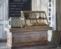 Vintage Distressed Wood Store Counter, Cabinet, Display ...