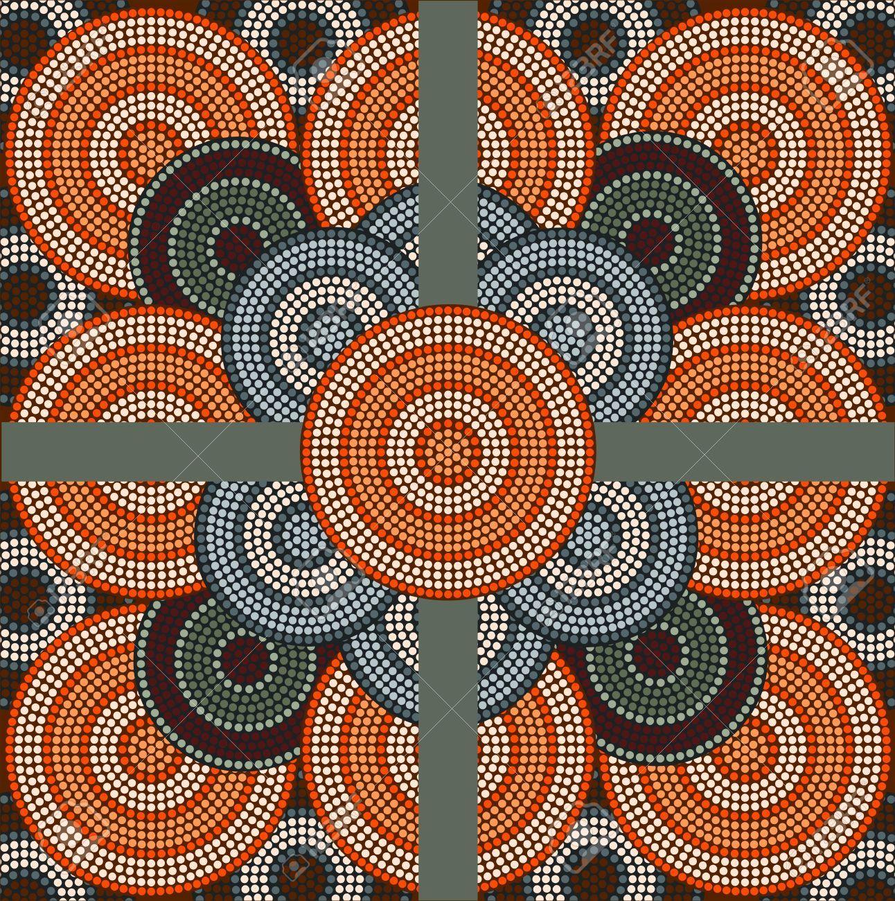 A Illustration Based On Aboriginal Style Of Dot