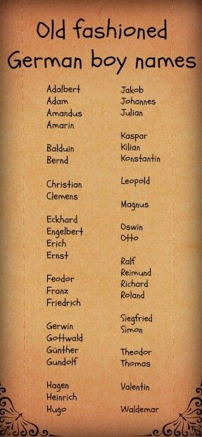 Baby Boy Names Old Fashioned
