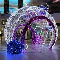 Outdoor decorative big LED light Christmas balls