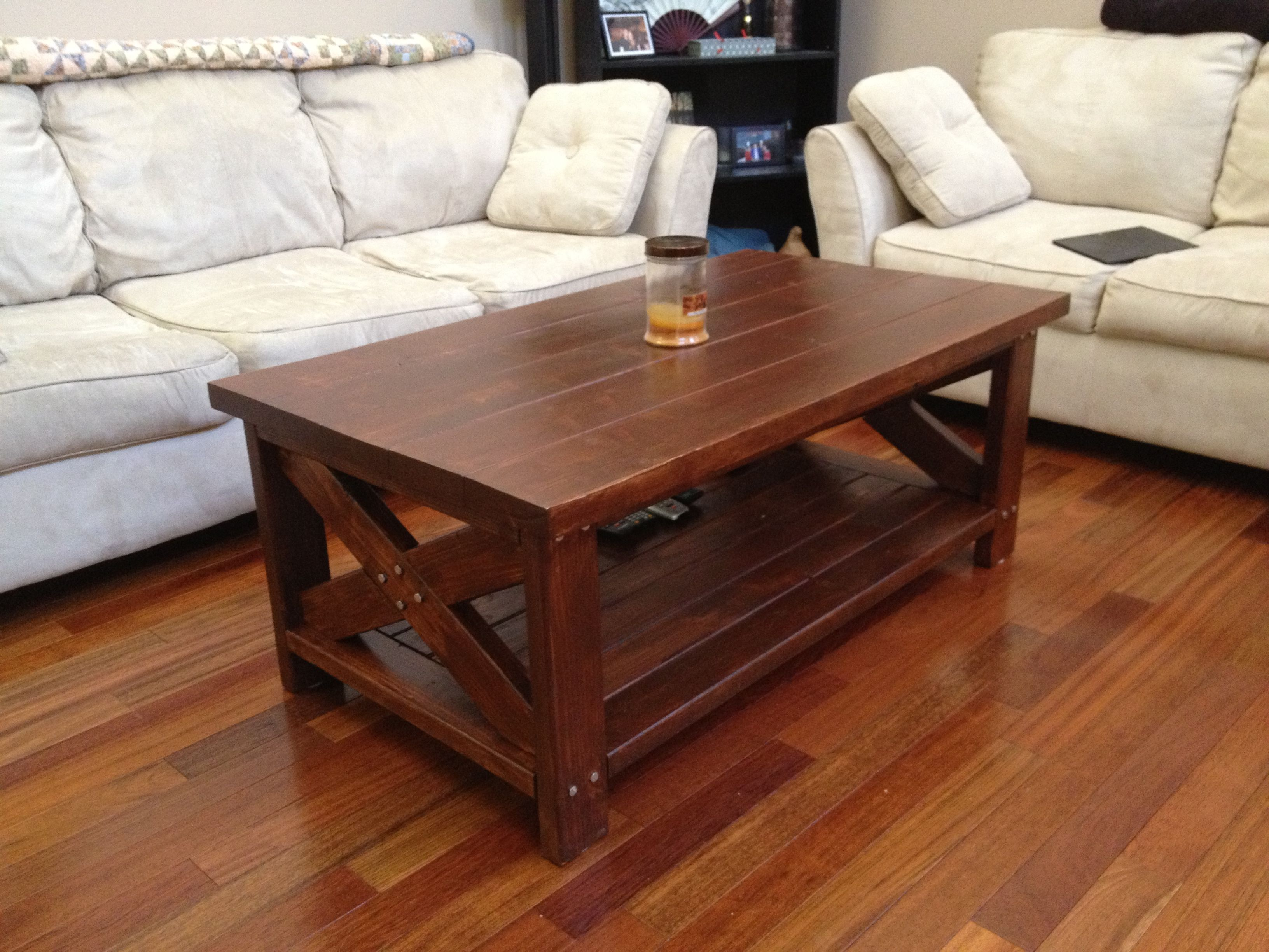 Rustic Farm Style Coffee Table, made from 2x4's and 2x6's
