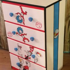 Dr Seuss Chair And Half Cat In The Hat Painted Dresser Chest Of Drawers