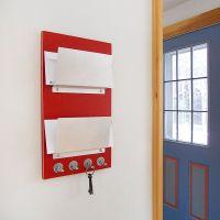 LOLLIPOP: red wall mount mail letter holder organizer key ...