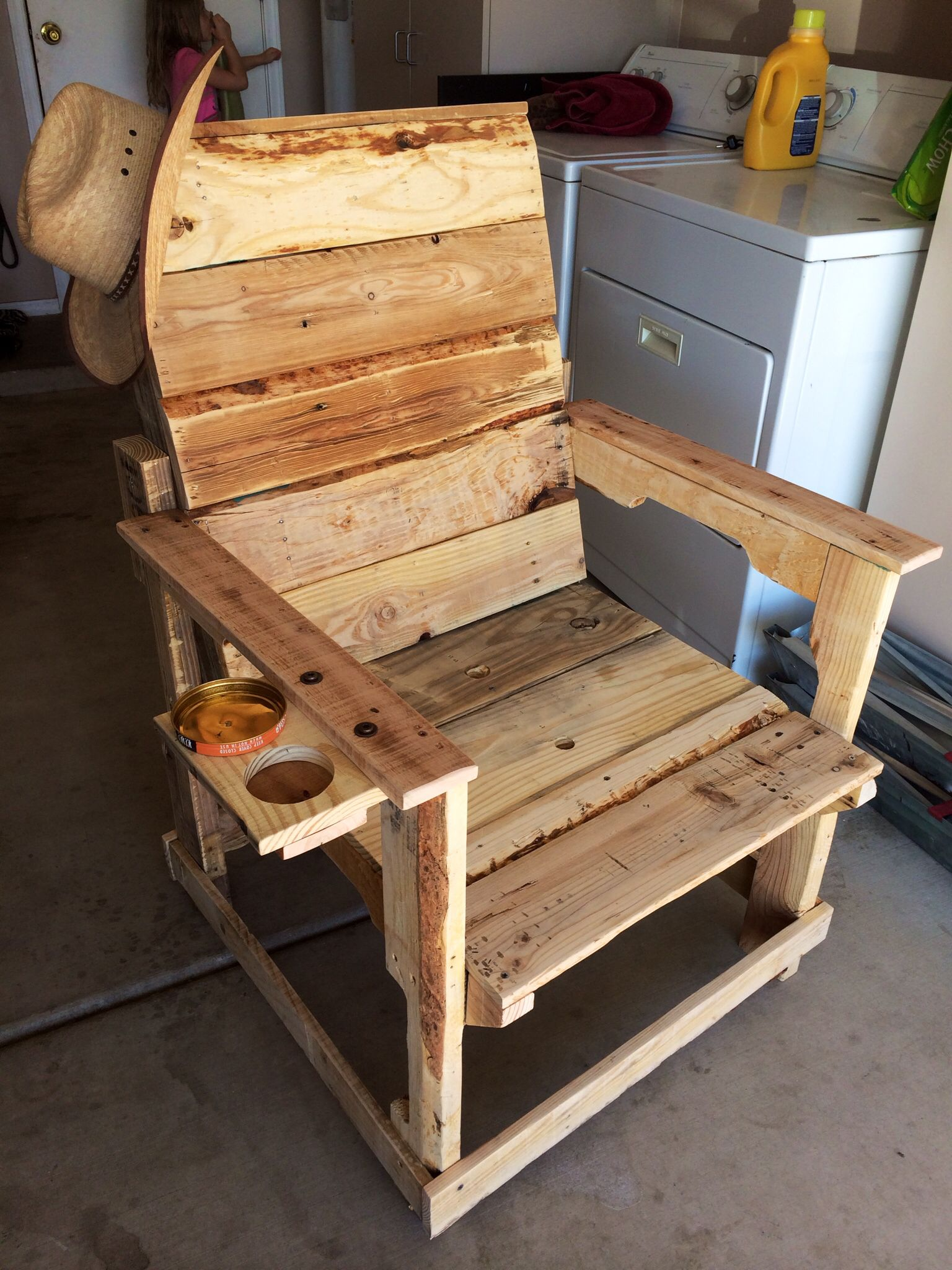 pallet wood chair cotton bar covers with ashtray and cup holder saddle soap