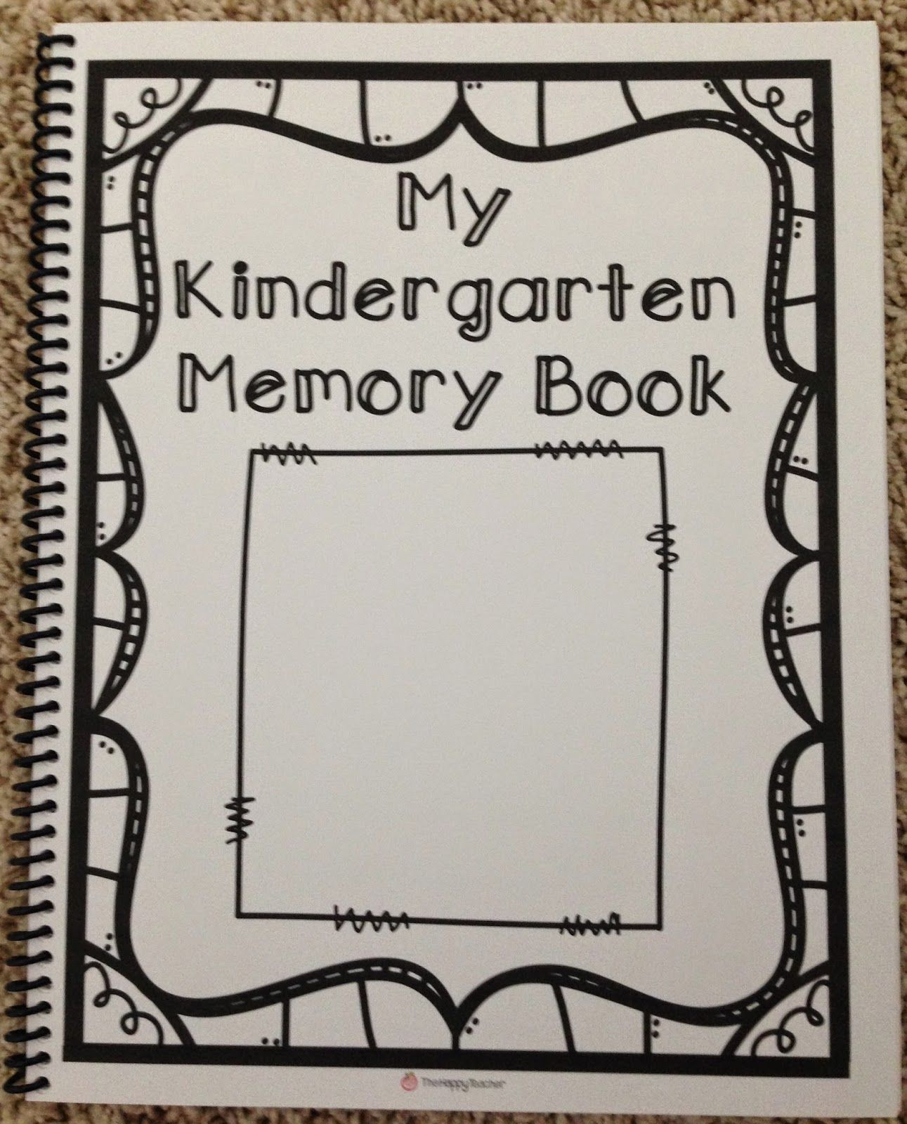 Kindergarten Memory Book 32 Pages Blackline To Create A