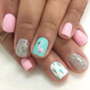 easy summer nail art short