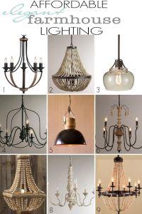 Affordable Elegant Farmhouse Lighting | Farmhouse style ...