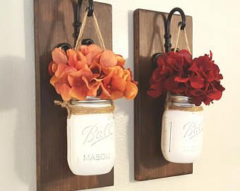 Mason jar wall sconces set sconce decor also rh pinterest