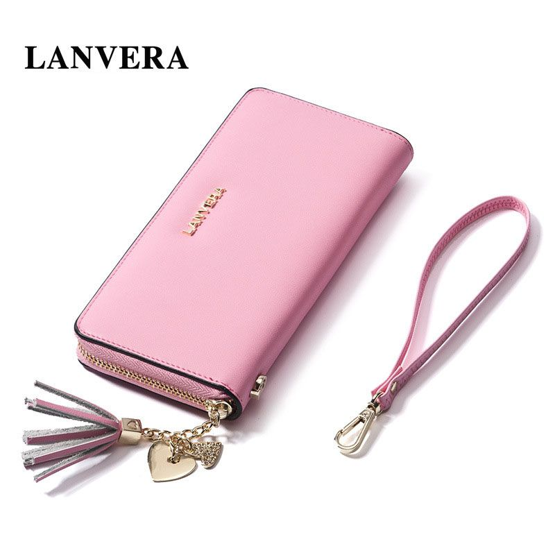 Lanvera leather womens purse cell phone wallet brand